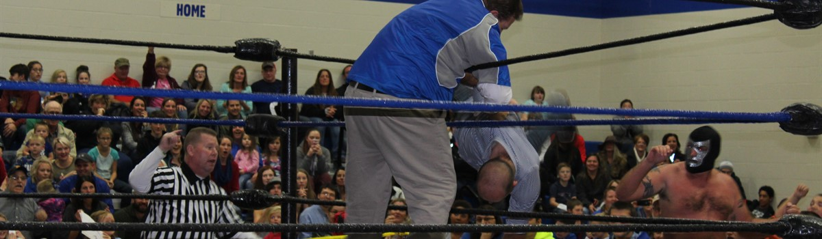 Mr. Stekli ejects Mr. Sailor from the ring